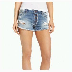 BP Frayed Denim Shorts 29 NWT